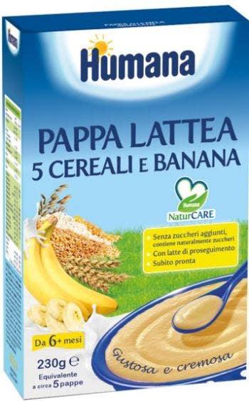 Humana Pappa Lattea 5 Cereali E Banana 230g